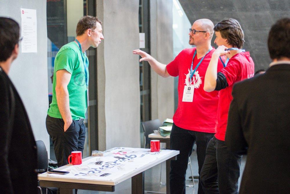 Stefan Buchberger beim WordCamp Vienna 2015
