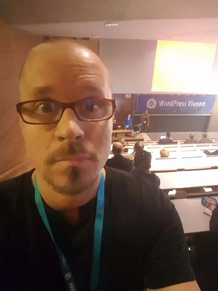 Stefan Buchberger beim WordCamp Vienna 2018