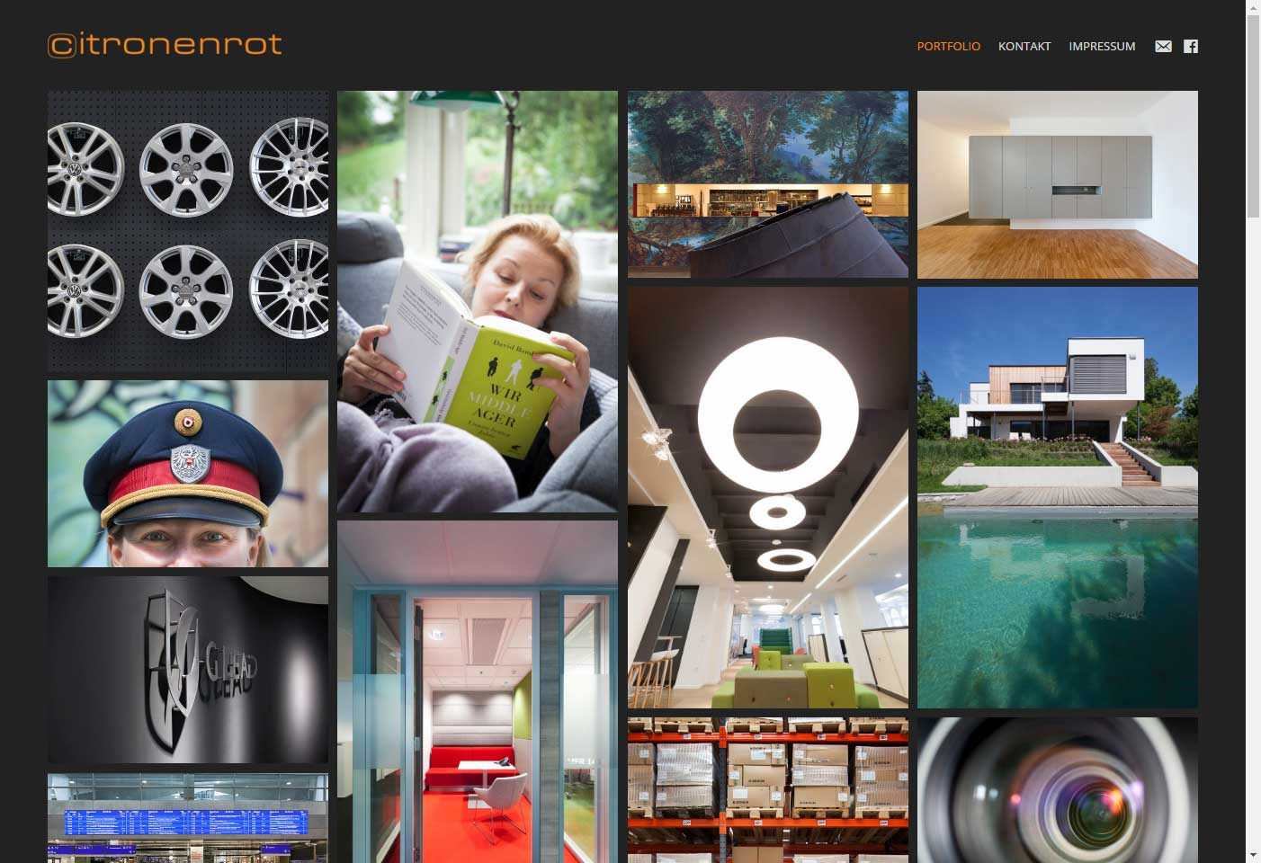 Screenshot Website Citronenrot photography (Buch